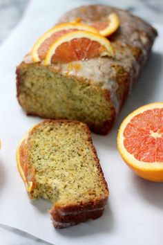 Greek Yogurt & Olive Oil Orange Poppy Seed Pound Cake
