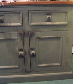 Milk Paint Furniture | Sage is a combination of a Black milk-paint base coat and an Acadia ...