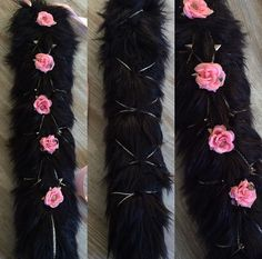 Love the chain and flowers on this tail LittleQsOddities on Etsy.