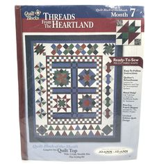 Joann Quilt Block of the Month Arbor Lane Collection #10