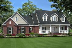 Front View - 1600 square foot Country home
