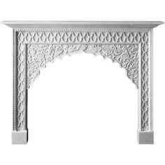 21st Century Reproduction Moroccan Mantel Carved In Marble (283.555 CZK) ❤ liked on Polyvore featuring home, home decor, fireplace, grey, gray home decor, marble home accessories, moroccan home accessories, inspirational home decor and moroccan style home decor
