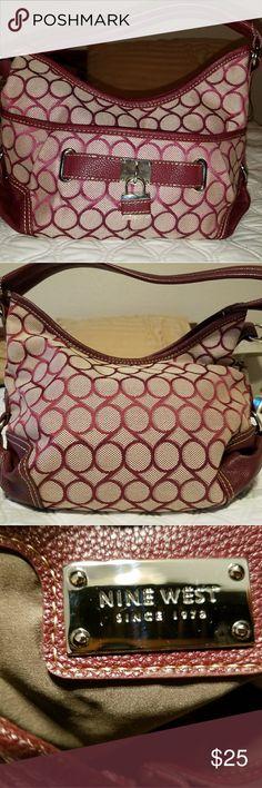 Nine West purse Maroon/red Nine West shoulder purse Nine West Bags Shoulder Bags