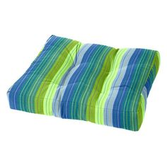Cushion Source 21 x 17 in. Striped Sunbrella Ottoman Cushion