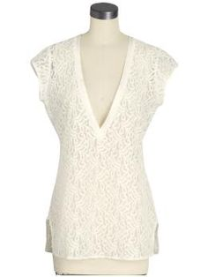 Beyond Vintage $88.99 PiperLime  Lace Deep V
