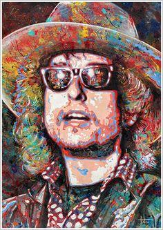 Bob Dylan ---  Art by Tom Noll http://www.tomnoll.com/allman-gregg/