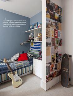 Quarto de adolescente, veja: http://casadevalentina.com.br/blog/detalhes/quarto-de-adolescente-3196 #decor #decoracao #interior #design #casa #home #house #idea #ideia #detalhes #details #style #estilo #casadevalentina #bedroom #quarto