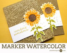 Faux Watercolor Stamping (With Markers) + GIVEAWAY - Jennifer McGuire Ink