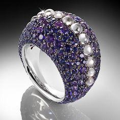 This is my Magic World! Purple Jewelry, Amethyst Jewelry, Gemstone Jewelry, Lotus Jewelry, Purple Diamond, Purple Rose, High Jewelry, Jewelry Box, Wedding Bands