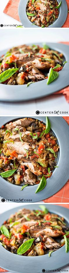 This SLOW COOKER PORK TENDERLOIN CACCIATORE is easy, healthy, and bursting with flavor.