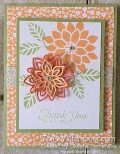 Stampin' Up! Two Delightful Flourishing Phrases Thank You Cards