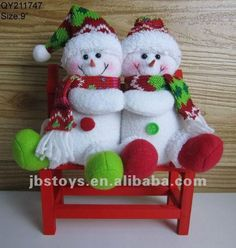 "9"" muñecos de nieve ( podemos hacer pedido del oem )-Adornos ... Christmas Fabric, Christmas Snowman, Christmas Stockings, Christmas Ornaments, Snowman Crafts, Felt Crafts, Diy And Crafts, Felt Dolls, Xmas Decorations"