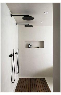 Minimalist Bathroom Design, Interior Design Minimalist, Black Interior Design, Bathroom Interior Design, Minimalist Home, Best Interior Design Blogs, Minimal Bathroom, Interior Designing, Simple Bathroom