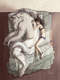 Wolf love she vampire human girl name jelly Fantasy Creatures, Mythical Creatures, Illustrations, Illustration Art, Art Wolfe, Street Art, Werewolf Art, Drawn Art, Vampires And Werewolves