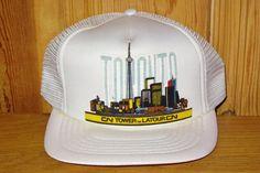 Toronto CN TOWER La Tour CN Vintage 80s White Mesh by HatsForward