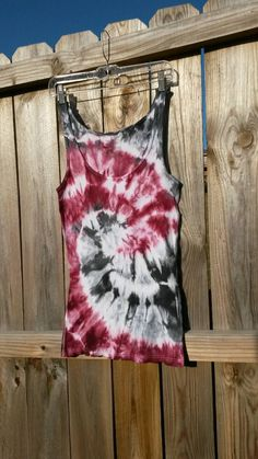 Tie Dye Tanktop Tie Dye Tank Red and Gray by MessyMommasTieDyes