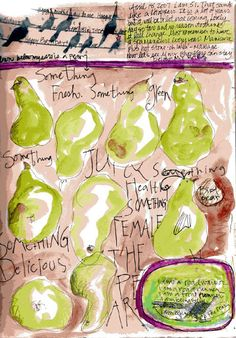 Journal PearsResized - Diana Trout #Art journal #ournal pages