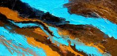 Islands Of Reason  Painting  - Islands Of Reason  Fine Art Print Holly Anderson Fine Art