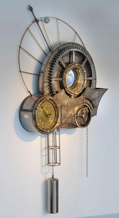 Steampunk art: Clockwork universe by Tim Wetherell