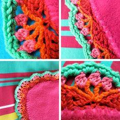 VanDani: gehaakt randje om fleece deken