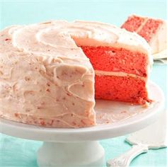 Mamaw Emily's Strawberry Cake.  I can't get enough of this cake.  So easy and so delicious. Perfect for Valentine's Day.