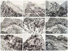 Robyn Penn Waves of Stone, 2019 Indian ink on paper 48 x 64 cm each R each Artsy, Ink, Artwork