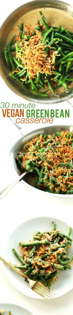 AMAZING, creamy Vegan Green Bean Casserole! Perfect for Christmas Day, special gatherings and SO MUCH MORE. #vegan