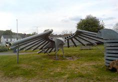 Hawk-shaped Aeolian harp by Thomas Guest, via Flickr