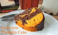 Glazed Chocolate Pumpkin Bundt Cake - Delicious Fall Treat #pumpkin #fall #halloween