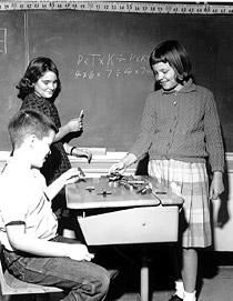 Students Learning the New Math, early 1960s