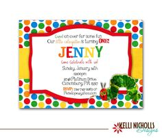 Very Hungry Caterpillar Invitation by KelliNichollsDesigns on Etsy, $15.00