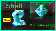 Cool video that shows you how to use one snake puzzle or Rubik's Twist to make a Shell and two snake puzzles or shells to make an Octahedran! Check out the new Facebook Page where you will find images of all Antoine's video tutorials to date together with links to all his videos. Click the 'Like' button to see his Facebook posts when he uploads new videos https://www.facebook.com/AntoineTutorials :)