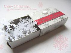 Geschenkschachtel mit Schnee von Ideenbox auf DaWanda.com
