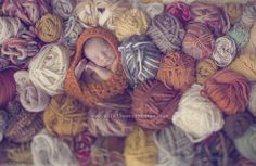As always, Wildflowers Photography takes vision and creativity up a notch. Looooove this newborn shoot using lots of yarn.