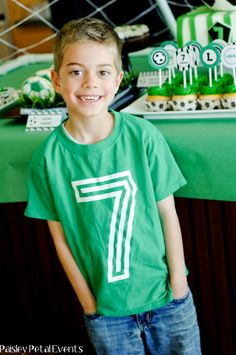 Great birthday party idea for the birthday child.  There age on the shirt! I purchased several shirt from this company and have been very pleased!