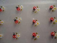 Como Fazer Adesivos para Unhas Fácil Passo a Passo Ladybug Nail Art, Fingernails Painted, Nail Decals, Manicure And Pedicure, Nail Arts, Diy Nails, Nails Inspiration, Pretty Nails, Nail Designs