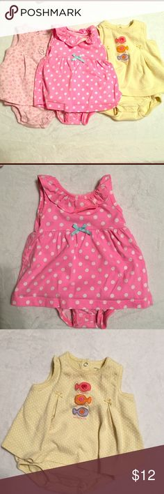 6 months carter's dress onesies 6 month baby girl dress onesie bundle. Great for the summer months Other
