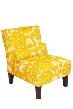 Thomas Paul Armless Chair- Gerber Sungold