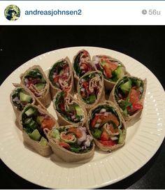 Wraps with smoked salomon