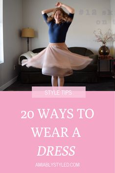 20 Dress Outfit Ideas (in honor of Dressember) - Amiably Styled How to wear and style a dress 20 ways. Perfect for a capsule wardrobe! Dresses are so easy to dress up or down or to wear to work! Dress Outfits, Dress Up, Fashion Outfits, Sweater Outfits, Fashion Tips, Work Wardrobe, Capsule Wardrobe, Preppy Style, Edgy Style