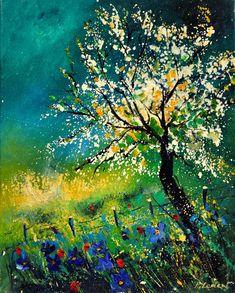 Spring Landscape 450408 Painting  - Spring Landscape 450408 Fine Art Print