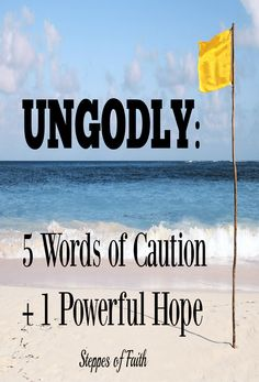 Part One: How can we share the Gospel with the ungodly if we're not supposed to hang out with them? Here's what I found out the Bible says about it.  http://www.steppesoffaith.com/faith/ungodly-words-caution-powerful-hope