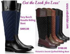 Velvet Rider's Get the Look for Less: Tory Burch Rosalie Riding Boots vs Victoria's Secret Quilted Riding Boots
