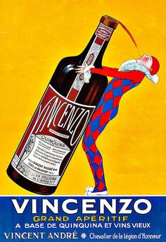 Vincenzo Grande Aperitif Drink Alcohol Drinks Pub Bar Chic Deco Poster Print