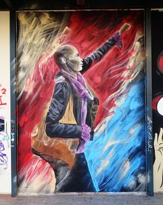 """Don't be Afraid"" The portrait of Tess Asplund who stood in front of 300 Neo-nazi in Sweden… Αthens University Law School 2017 Street Wall Art, Urban Street Art, Best Street Art, Amazing Street Art, Street Art Graffiti, Chalk Pictures, Installation Street Art, People Art, Street Artists"