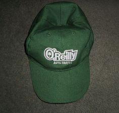 Men's Green O'REILLY AUTO PARTS Embroidered Logo Hat, Adjustable Strap, GUC #OReillyAutoParts #BaseballCap