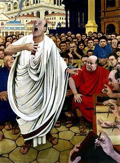 """""""Cicero defending Caecina"""", George Schmidt"""