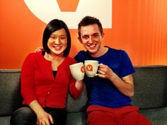 With their Viator mugs in our San Francisco office