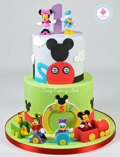 Mickey Mouse Club Themed Birthday Cake www.fancycakesbylinda.co.uk www.facebook.com/fancycakeslinda