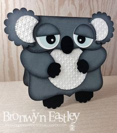 addINKtive designs: Koala Card - Punch art chart and directions in post. Paper Punch Art, Punch Art Cards, Kids Cards, Baby Cards, Ideas Paso A Paso, Kids Birthday Cards, Shaped Cards, Animal Cards, Creative Cards